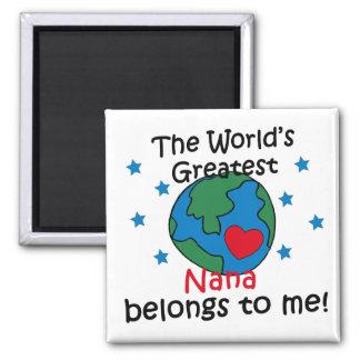 Best Nana Belongs to me 2 Inch Square Magnet