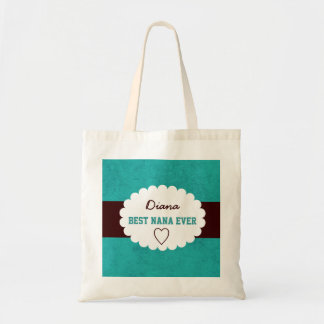 Best Nana Ever Custom Name Grandmother Gift Tote Bag