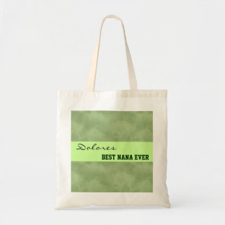 Best Nana Ever Green Clouds Nana Tote Template