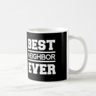 Best NEIGHBOR Ever Black and White A02 Coffee Mug