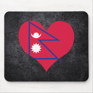Best Nepalese Heart flag Mouse Pad