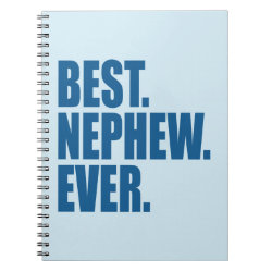 Photo Notebook (6.5' x 8.75', 80 Pages B&W) with Best. Nephew. Ever. (blue) design