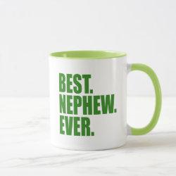 Mug with Best. Nephew. Ever. (green) design