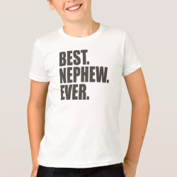 Kids' American Apparel Fine Jersey T-Shirt with Best. Nephew. Ever. design