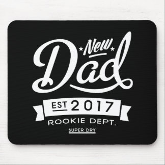 Best New Dad 2017 Dark Mouse Pad