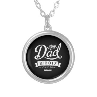 Best New Dad 2017 Dark Silver Plated Necklace