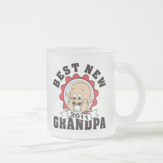 Best New Grandpa 2011 Frosted Glass Coffee Mug