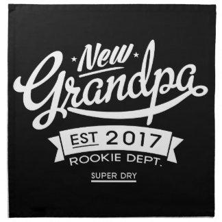 Best New Grandpa 2017 Dark Cloth Napkin