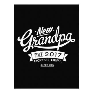 Best New Grandpa 2017 Dark Letterhead