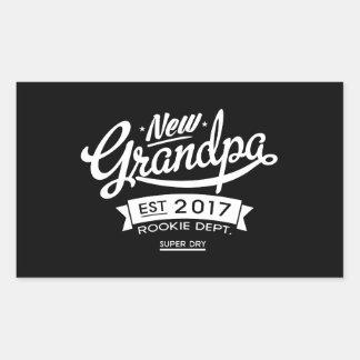 Best New Grandpa 2017 Dark Rectangular Sticker