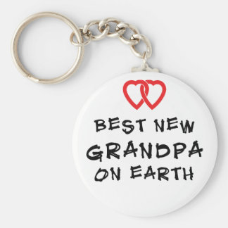 Best New Grandpa On Earth Gift Key Chains