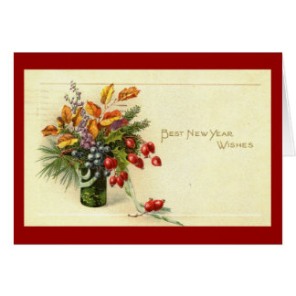 Best New Year Wishes Vintage Card