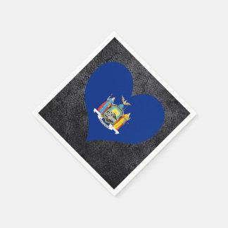Best New+Yorker Heart flag Standard Cocktail Napkin