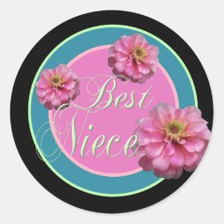 Best Niece Classic Round Sticker