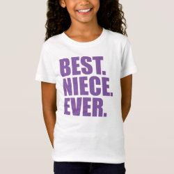 Girls' Fine Jersey T-Shirt with Best. Niece. Ever. (purple) design