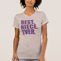 Women's American Apparel Fine Jersey Short Sleeve T-Shirt with Best. Niece. Ever. (purple) design
