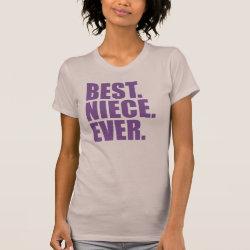 Women's American Apparel Fine Jersey Short Sleeve T-Shirt with Best. Niece. Ever. (purple) design