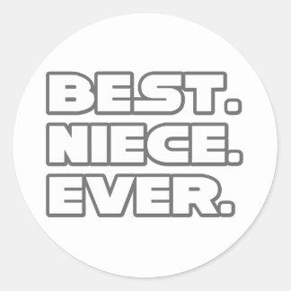 Best Niece Ever Round Stickers