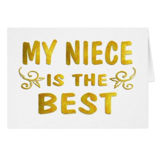 Best Niece Greeting Card