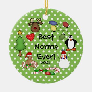 Best Nonna Ever Christmas Ornament