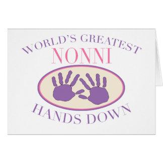 Best Nonni Hands Down T-shirt Card