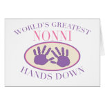 Best Nonni Hands Down T-shirt Greeting Card