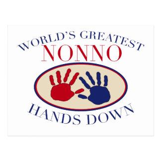 Best Nonno Hands Down Postcard