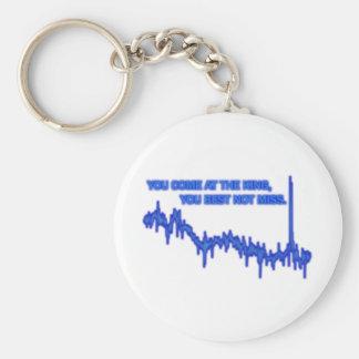 Best not miss basic round button keychain