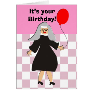 Best Nun Birthday Card