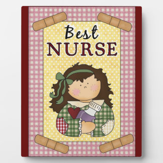 Best Nurse cartoon plaque
