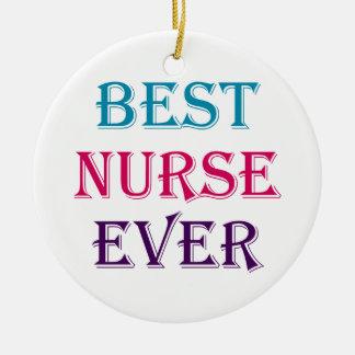 Best Nurse Ever Ceramic Ornament