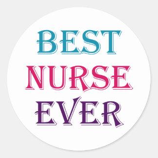 Best Nurse Ever Classic Round Sticker