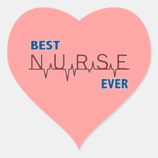 Best Nurse Ever Heart Sticker