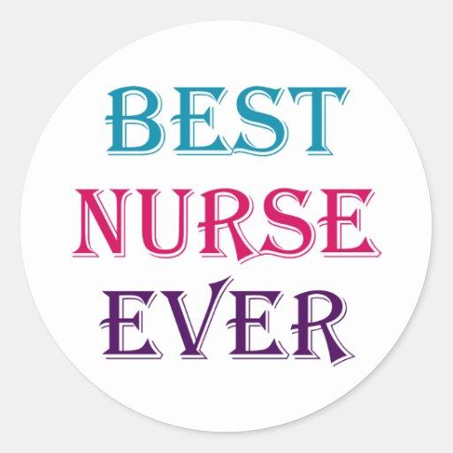 Best Nurse Ever Sticker