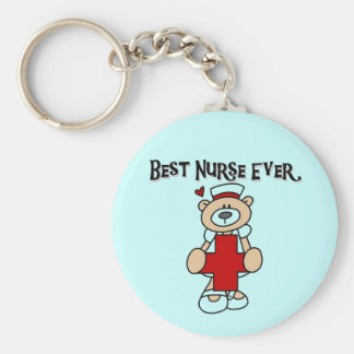 Best Nurse Ever T-shirts and Gifts Basic Round Button Keychain