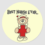 Best Nurse Ever T-shirts and Gifts Classic Round Sticker