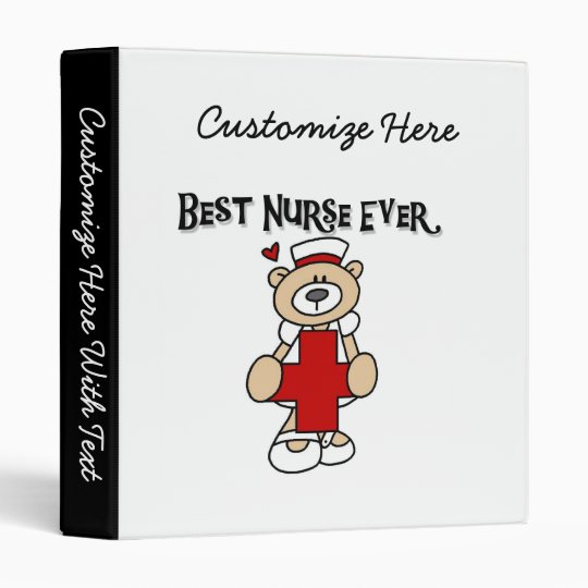 Best Nurse Ever Tshirts and Gifts 3 Ring Binder