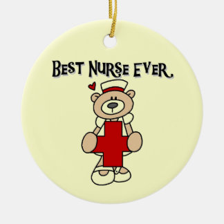 Best Nurse Ever Tshirts and Gifts Ceramic Ornament