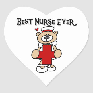 Best Nurse Ever Tshirts and Gifts Heart Sticker