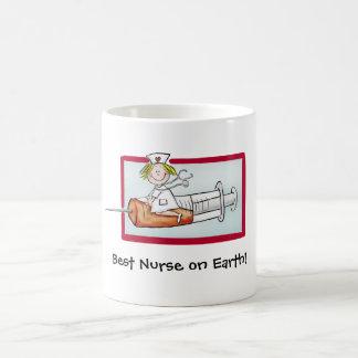 Best Nurse on Earth - Humorous Cartoon Nurse Coffee Mug