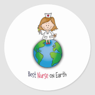 Best Nurse on Earth - Nurses Day - Nurses Week Classic Round Sticker