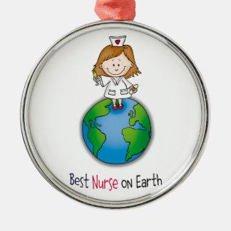 Best Nurse on Earth - Nurses Day - Nurses Week Metal Ornament