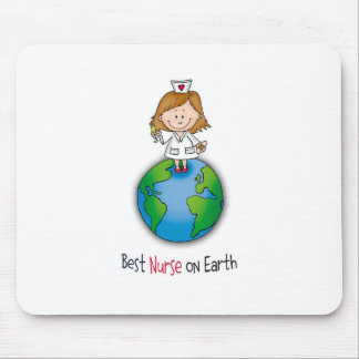 Best Nurse on Earth - Nurses Day - Nurses Week Mouse Pads