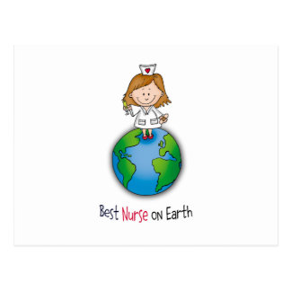 Best Nurse on Earth - Nurses Day - Nurses Week Postcard