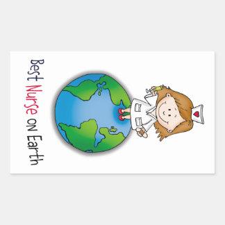 Best Nurse on Earth - Nurses Day - Nurses Week Rectangular Sticker