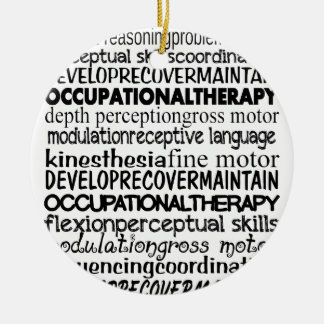 Best Occupational Therapy Gifts Double-Sided Ceramic Round Christmas Ornament