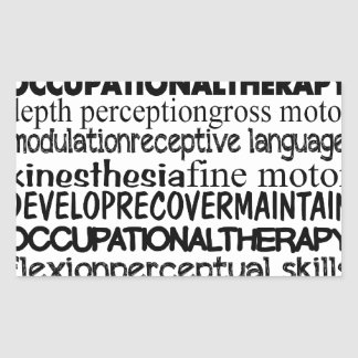 Best Occupational Therapy Gifts Rectangular Sticker