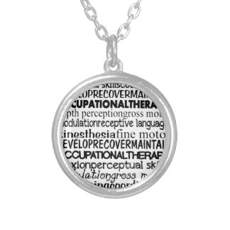 Best Occupational Therapy Gifts Silver Plated Necklace