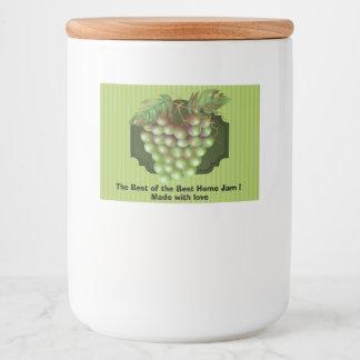 "BEST OF BEST JAM Food Container Label (3"" x 2"")"