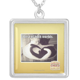 Best of both worlds. square pendant necklace